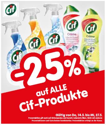 -25% auf alle Cif-Produkte