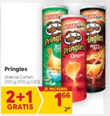 Pringles Chips in diversen Sorten um € 1,66