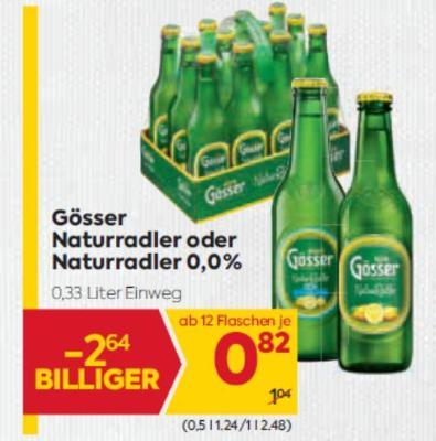 Gösser Naturradler oder Naturradler 0,0% um € 0,82