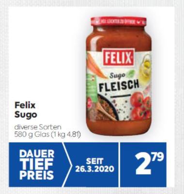 Felix Sugo in diversen Sorten um € 2,79