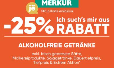 -25% auf Alkoholfreie Getränke