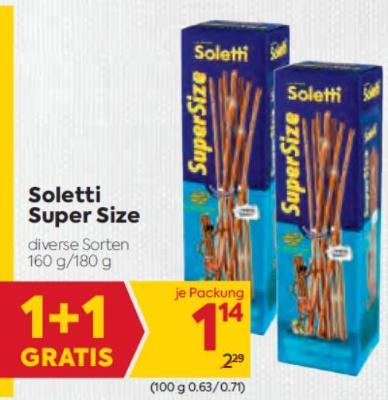 Soletti Super Size in diversen Sorten um € 1,14