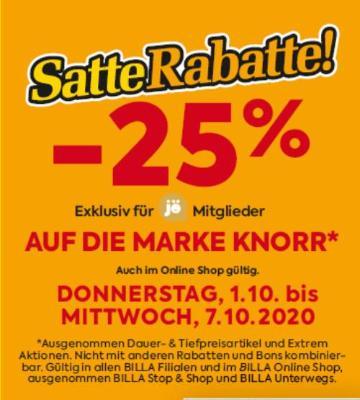 -25% auf die Marke Knorr