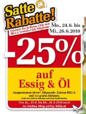 -25% auf Essig und Öl