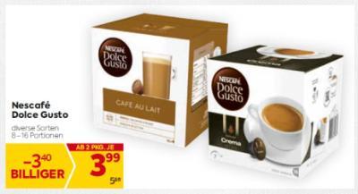Nescafe Dolce Gusto in diversen Sorten um € 3,99