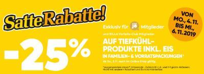 -25% auf Tiefkühlprodukte inkl. Eis in Familien- & Vorratspackungen