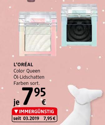 L'Oréal Color Queen Öl-Lidschatten Farben sortiert um € 7,95