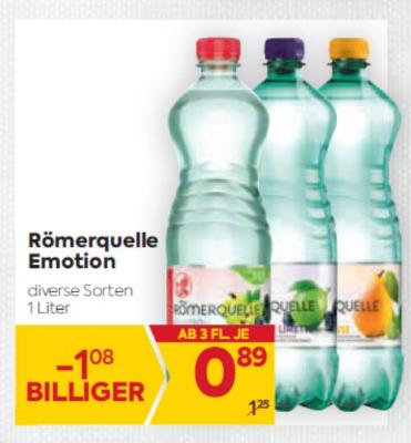 Römerquelle Emotion in diversen Sorten um € 0,89