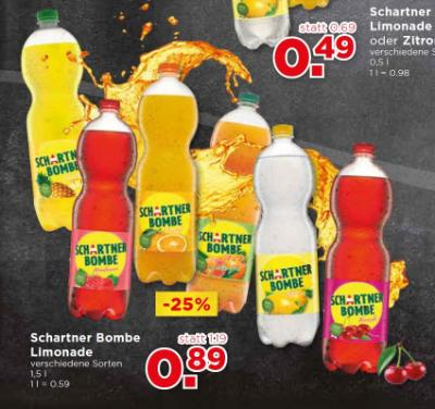 Schartner Bombe Limonade