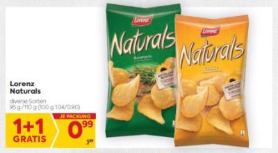 Lorenz Naturals in diversen Sorten um € 0,99