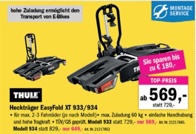 Thule Heckträger EasyFold XT 933 / 934 um € 569,-