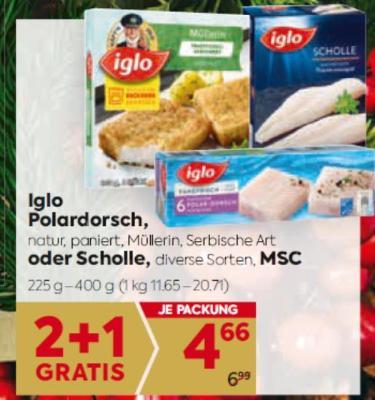 Iglo Polardorsch oder Scholle in diversen Sorten um € 4,66