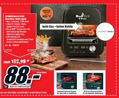 Gourmetmaxx 8100 Oberhitze-Elektrogrill