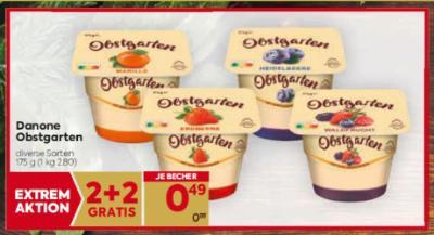 Danone Obstgarten in diversen Sorten um € 0,49