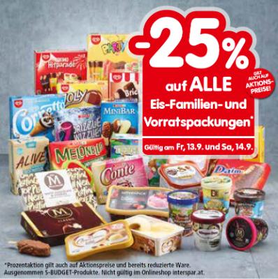 -25% auf ALLE Eis-Familien- und Vorratspackungen