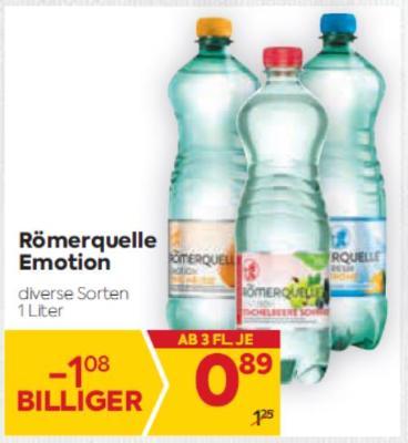 Römerquelle Emotion in diversen Sorten um € 0,89
