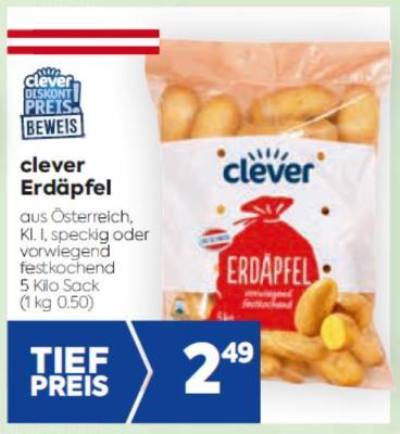 Clever Erdäpfel in diversen Sorten um € 2,49