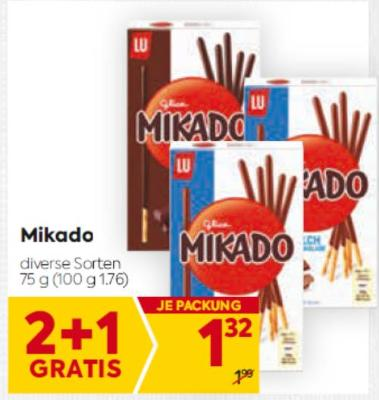 Mikado Schokolade in diversen Sorten um € 1,32