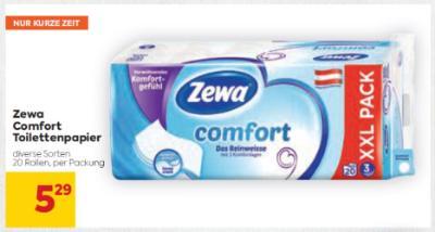 Zewa Comfort Toilettenpapier in diversen Sorten um € 5,29