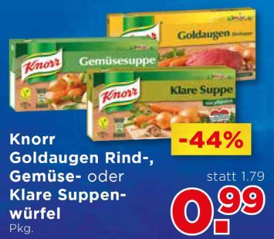 Knorr Goldaugen Rind-, Gemüse- oder Klare Suppenwürfel