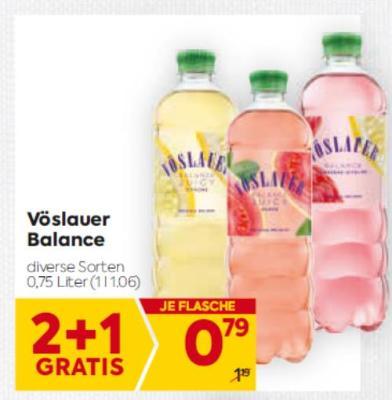 Vöslauer Balance in diversen Sorten um € 0,79