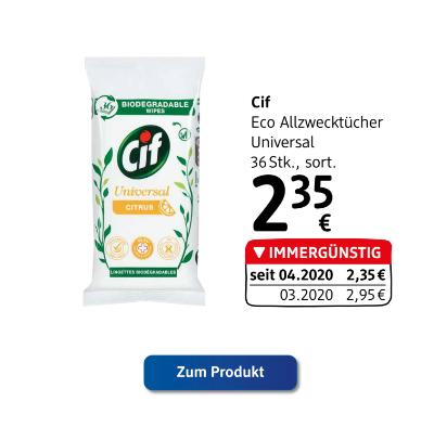 Cif Eco Allzwecktücher Universal sortiert um € 2,35