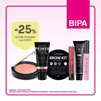 -25% auf alle Kosmetik-Produkte von GOSH