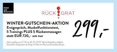 Rückgrat: Winter-Gutschein-Aktion