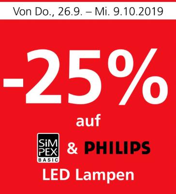 -25% auf LED Lampen
