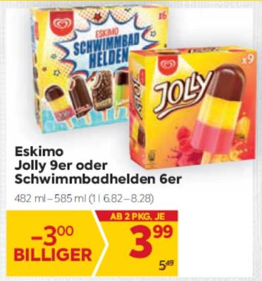Eskimo Jolly 9er oder Schwimmbadhelden 6er um € 3,99