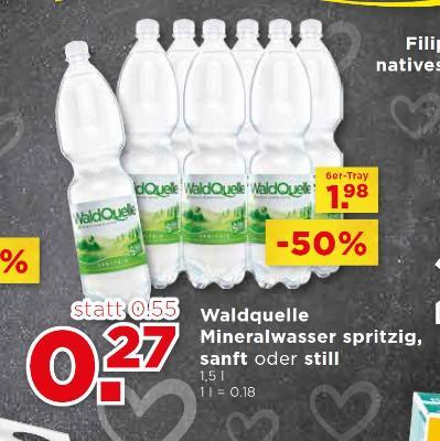 Waldquelle Mineralwasser spritzig, sanft oder still