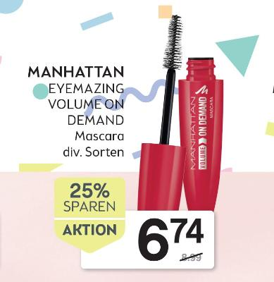 MANHATTAN EYEMAZING VOLUME ON DEMAND Mascara div. Sorten