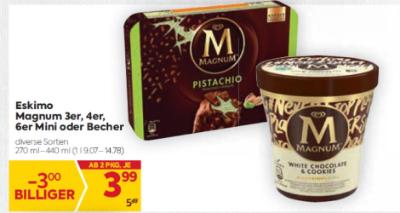 Eskimo Magnum 3er, 4er, 6er Mini oder Becher um € 3,99