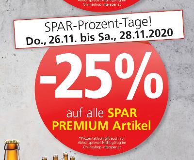 -25% auf alle SPAR PREMIUM Artikel