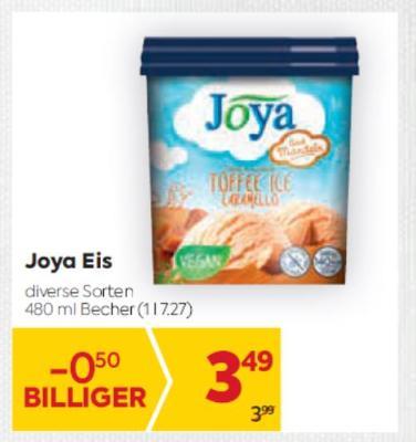 Joya Eis in diversen Sorten um € 3,49