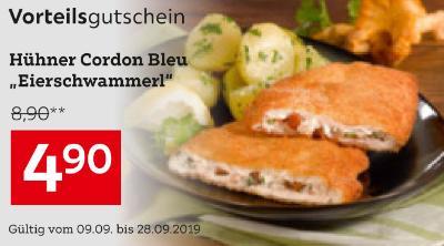 """Hühner Cordon Bleu """"Eierschwammerl"""""""