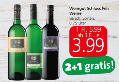 Weingut Schloss Fels Weine verschiedene Sorten um € 3,99