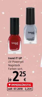 Trend IT UP UV Powergel Nagellack Farben sortiert um € 2,25