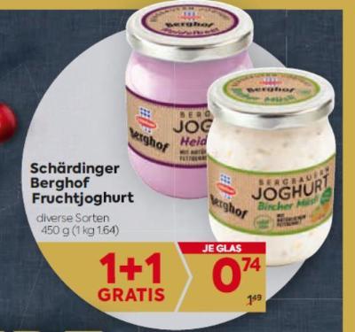 Schärdinger Berghof Fruchtjoghurt in diversen Sorten um € 0,74