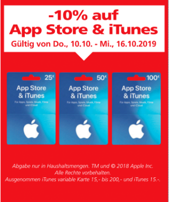 -10 % auf App Store & iTunes