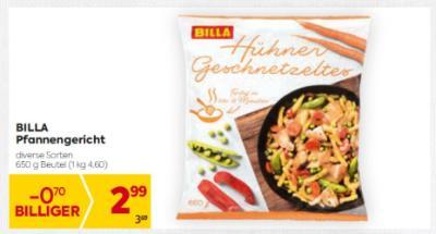 Billa Pfannengericht in diversen Sorten um € 2,99