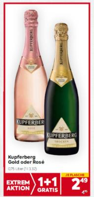 Kupferberg Gold oder Rosé um € 2,49