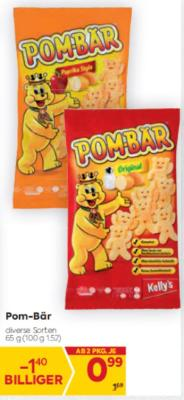 Pom-Bär in diversen Sorten um € 0,99