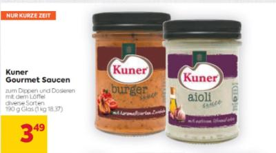 Kuner Gourmet Saucen in diversen Sorten um € 3,49