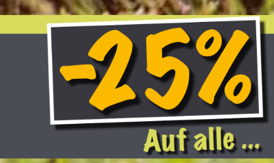 -25% auf alle Weine, Sekt & Spirituosen
