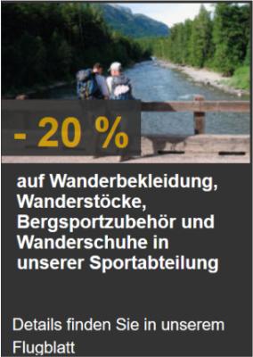-20% auf alles zum Wandern