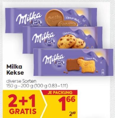 Milka Kekse in diversen Sorten um € 1,66