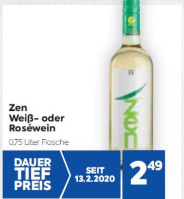 Zen Weiß- oder Roséwein um € 2,49