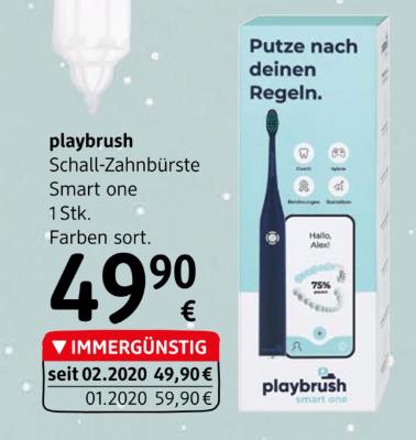 Playbrush Schall-Zahnbürste Smart One Farben sortiert um € 49,90
