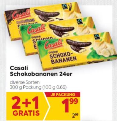 Casali Schokobananen in diversen Sorten um € 1,99